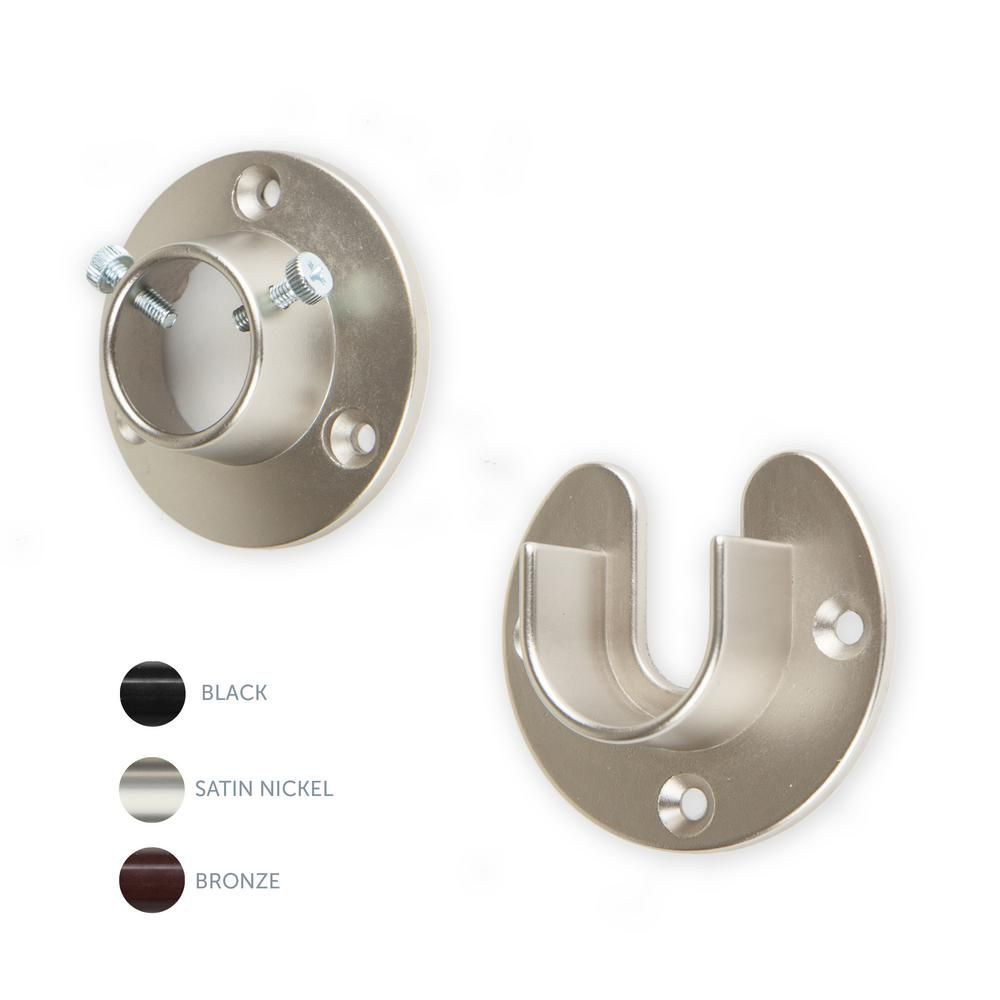 Rod Desyne 1 In Rod Socket Open Close In Satin Nickel In 2020