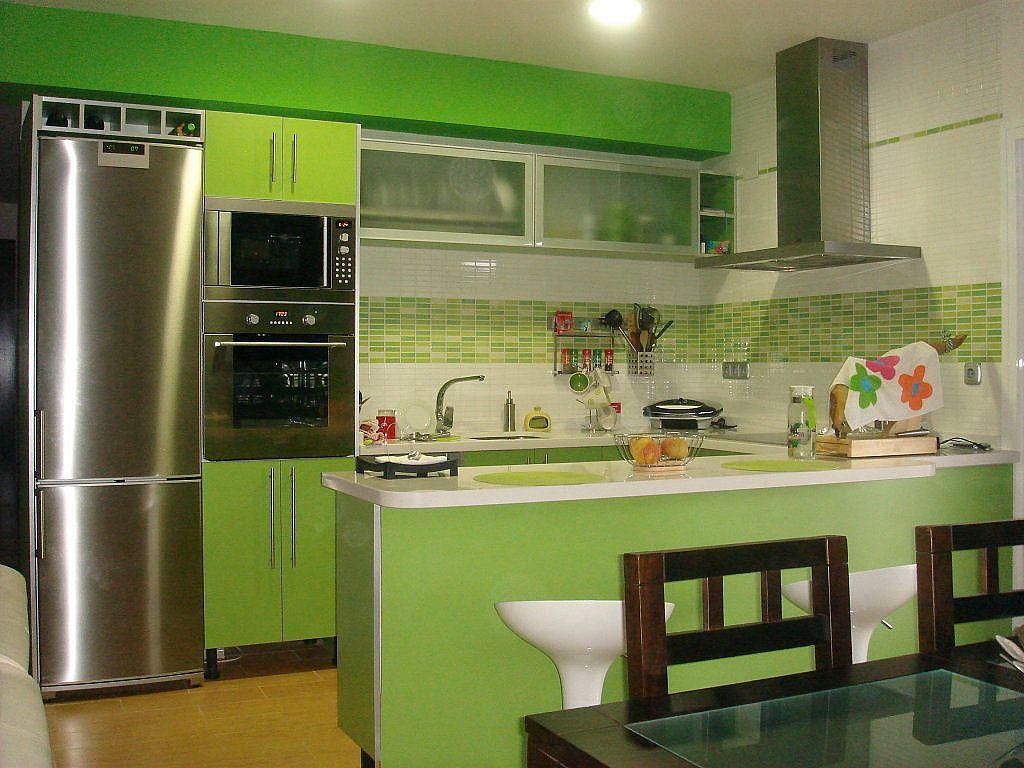 Decoraci n e ideas para mi hogar 10 cocinas en color for Decoracion hogar verde