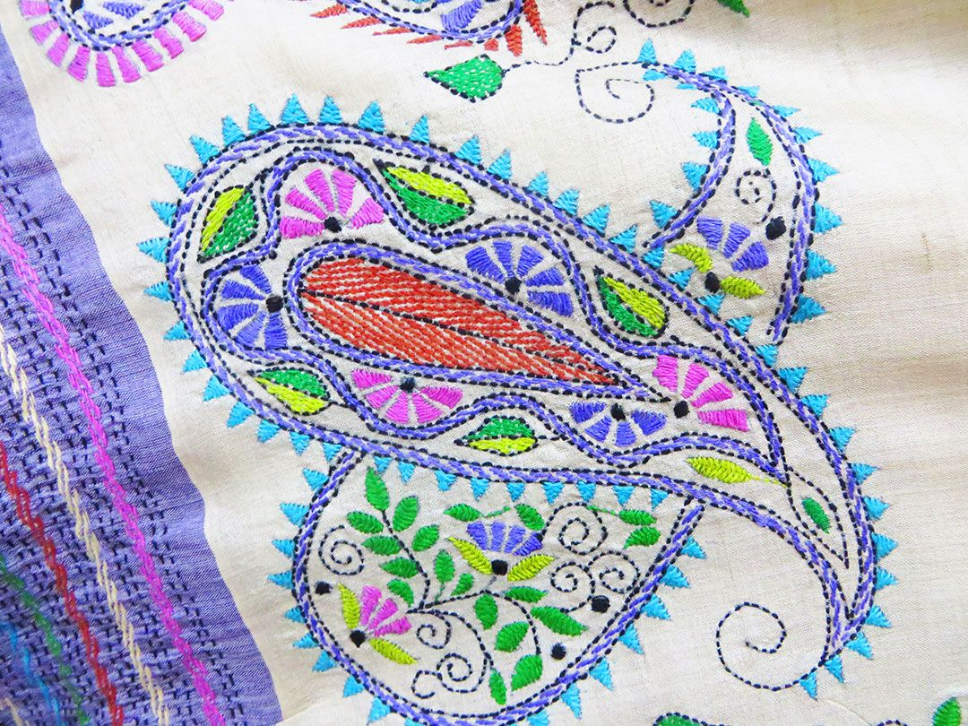 Hand Embroidery Patchwork Quilt How To Do Kantha Stitch Designs