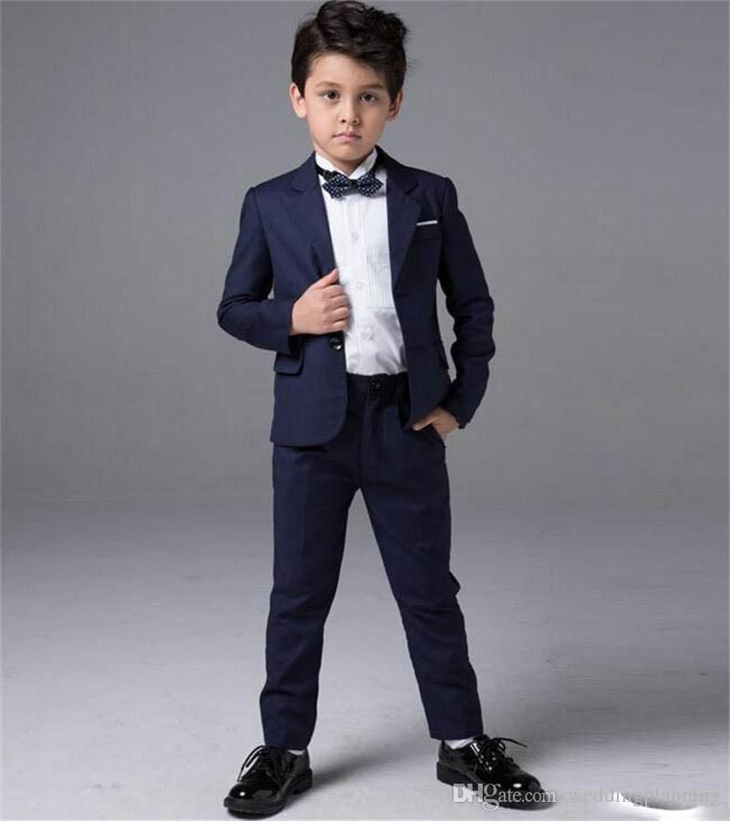 New Boys Suits Tuxedos For Weddings Boy S Formal Occasion Little Men Suits  Children Kids Wedding Party Boy S Formal Wear Jacket+Pants Boys Linen Suits  Boys ... 47407e415016