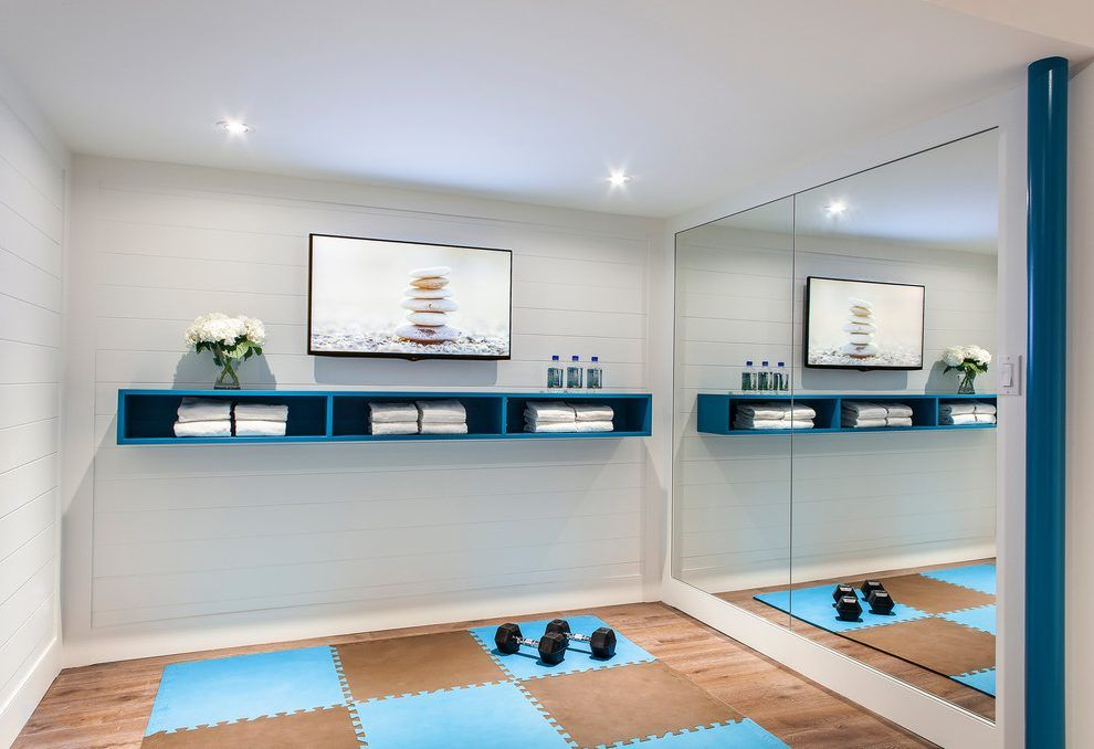 Home gym storage ideas contemporary with workout