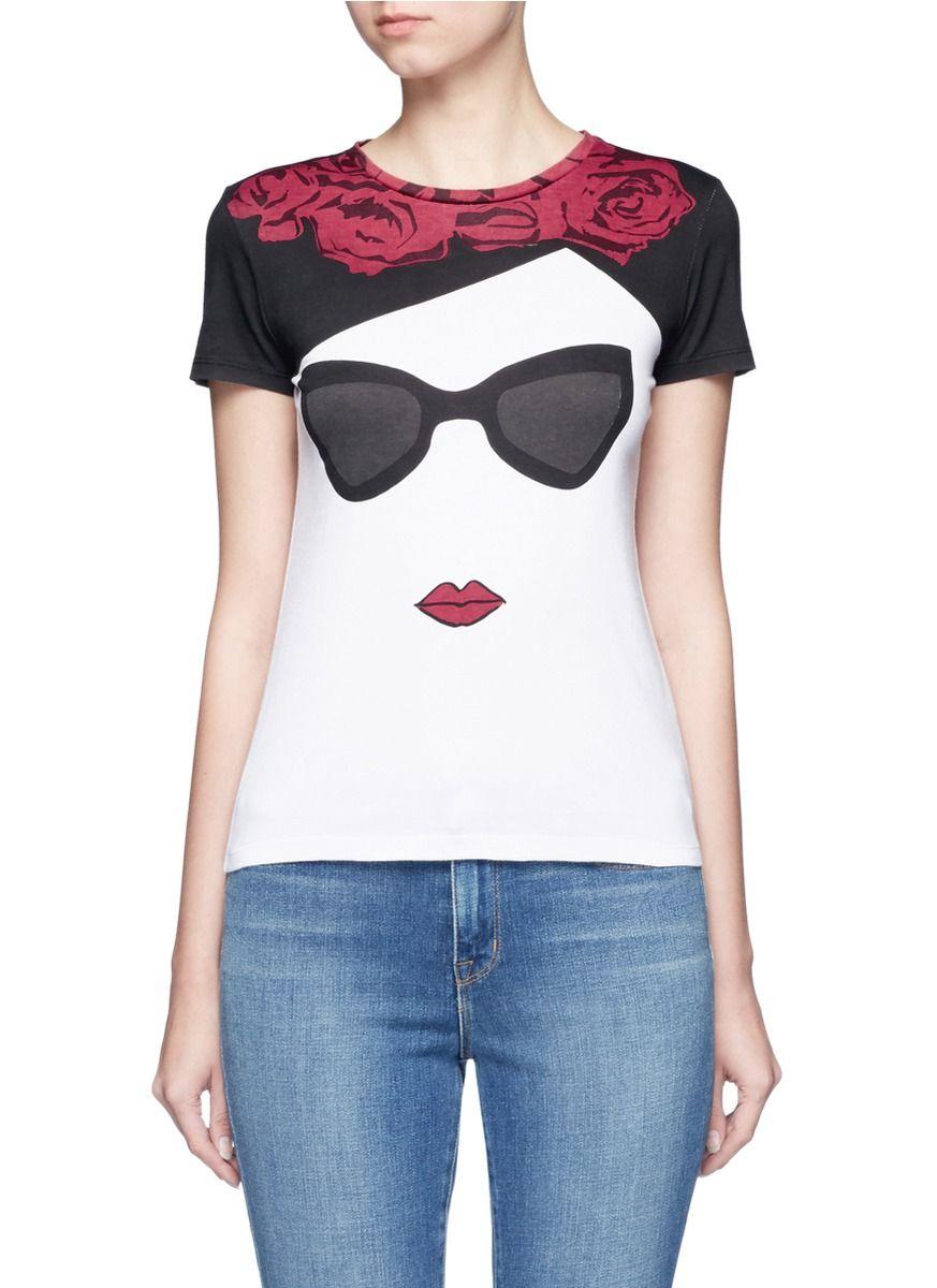 f7b331dc87a ALICE + OLIVIA  Stace Face Frida  Print T-Shirt.  alice+olivia  cloth  t- shirt