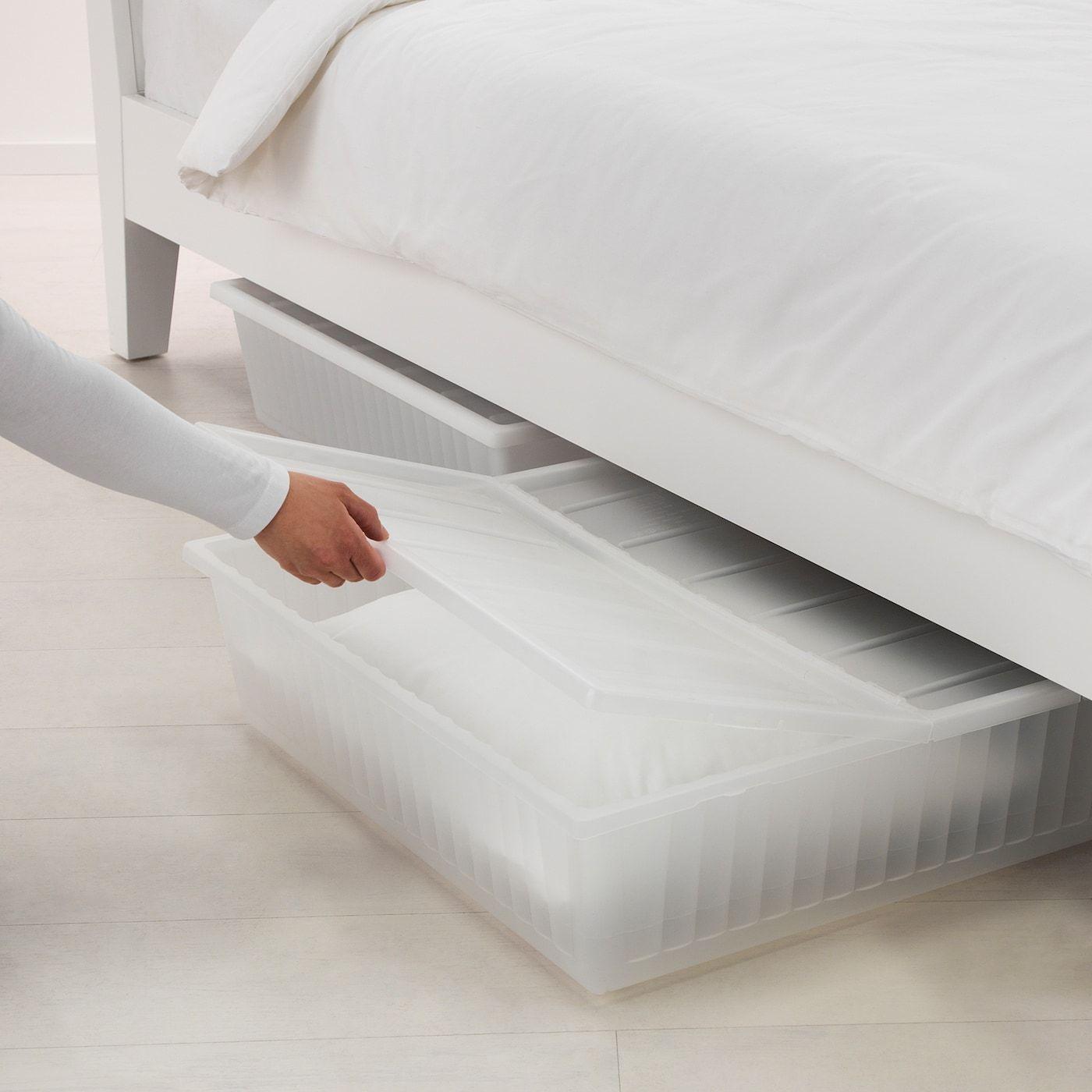 Ikea Gimse White Underbed Storage Box In 2020 Under Bed Storage Bedroom Storage Bed Storage