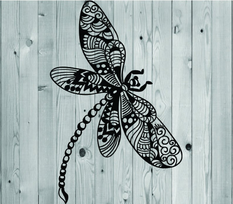 Download Dragonfly svg, mandala zentangle for cricut in 2020 ...
