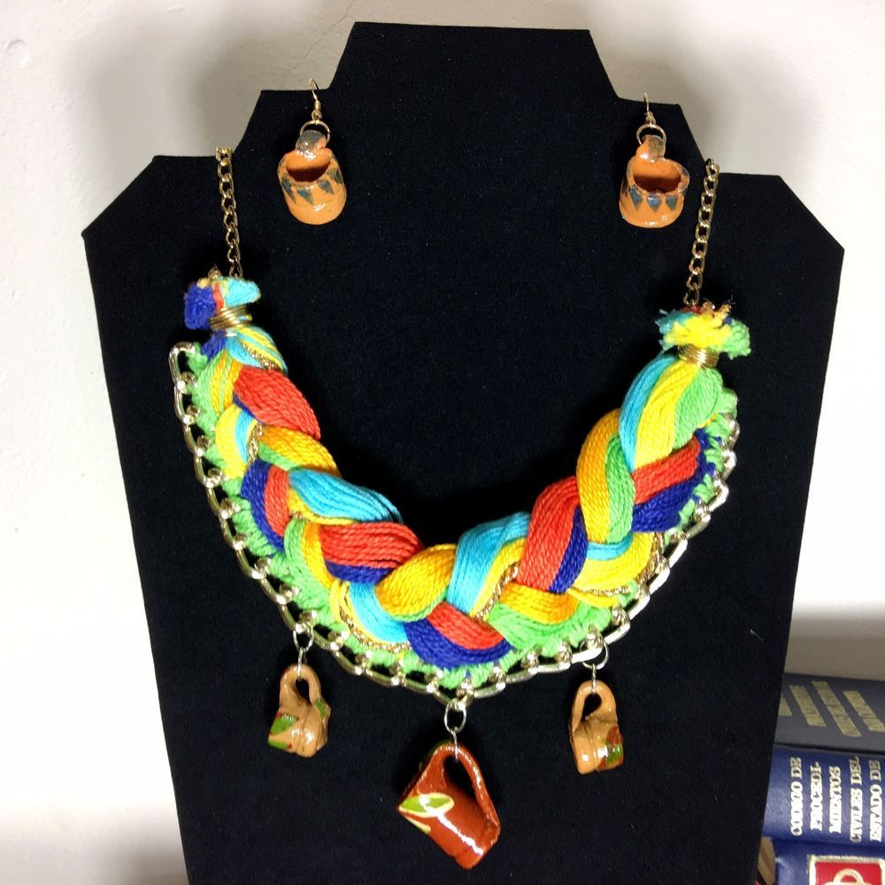 Frida Kahlo Statement Hand Multicolor Necklace