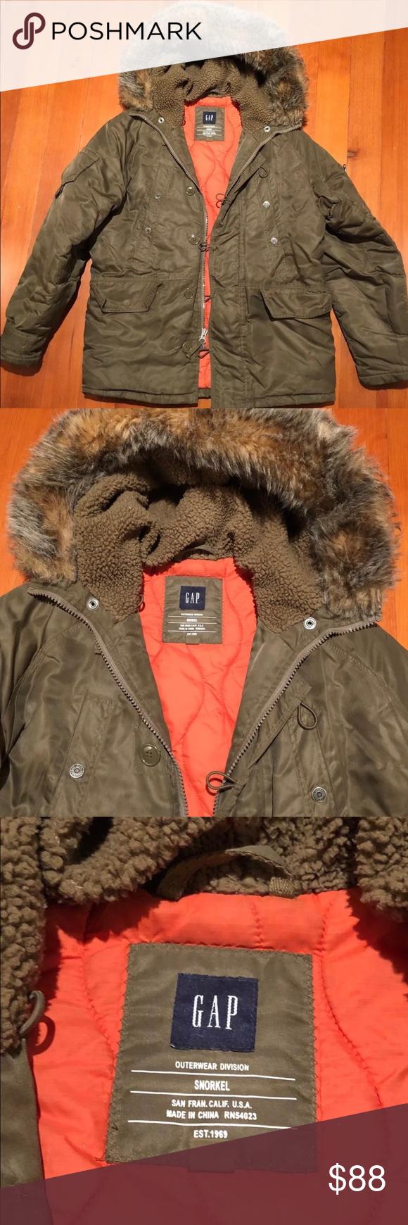 Gap Snorkel Jacket Sz Large Jackets Clothes Design Fashion Design [ 1740 x 580 Pixel ]