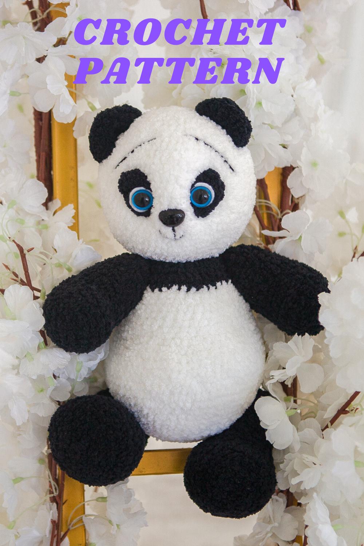 Panda Bear (English), PDF crochet bear pattern, cute crochet panda ...   1500x1000