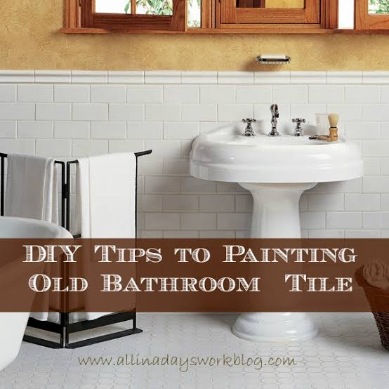 Spray Painting Bathroom Tiles Google Search In 2020 Painting Old Bathroom Tile Tile Bathroom Old Bathrooms