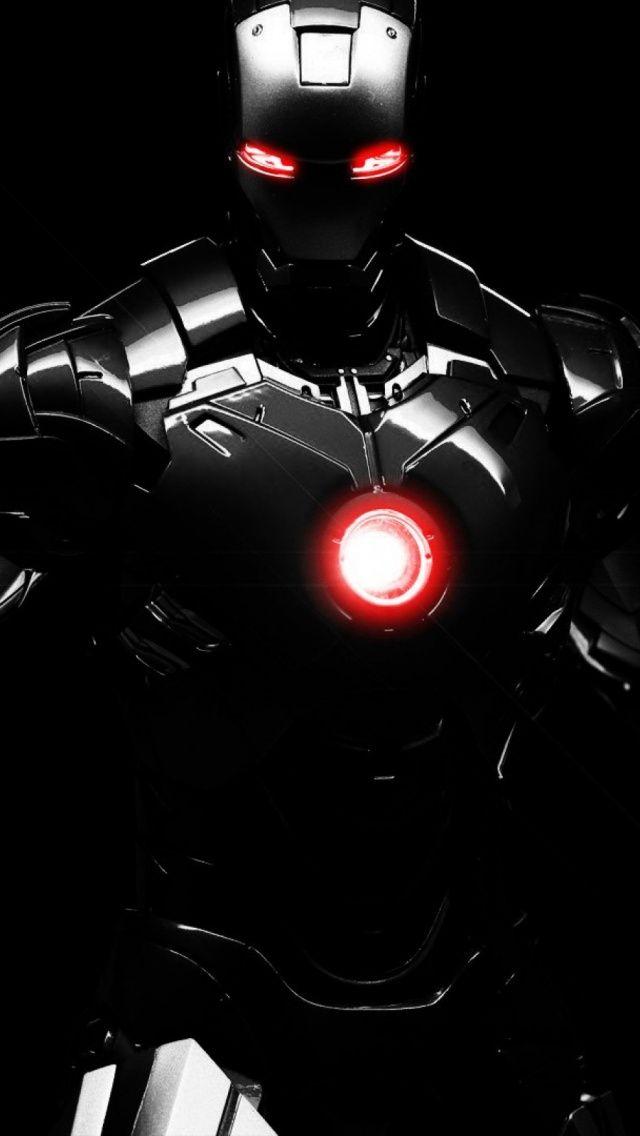 Black Iron Man Mobile Wallpaper Mobiles Wall Pahlawan Marvel Pahlawan Super Wallpaper Hd