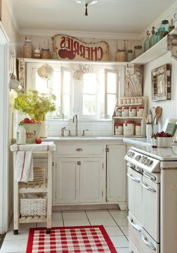 Cottage decorating ideas kitchen kitchen shabby-chic style ...