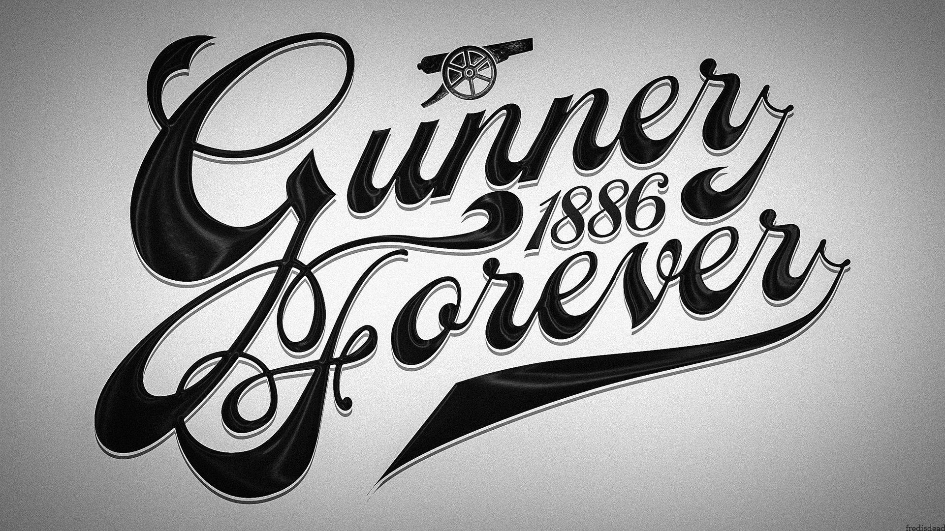 Gunnerforever Black White Wallpaper Arsenal Afc