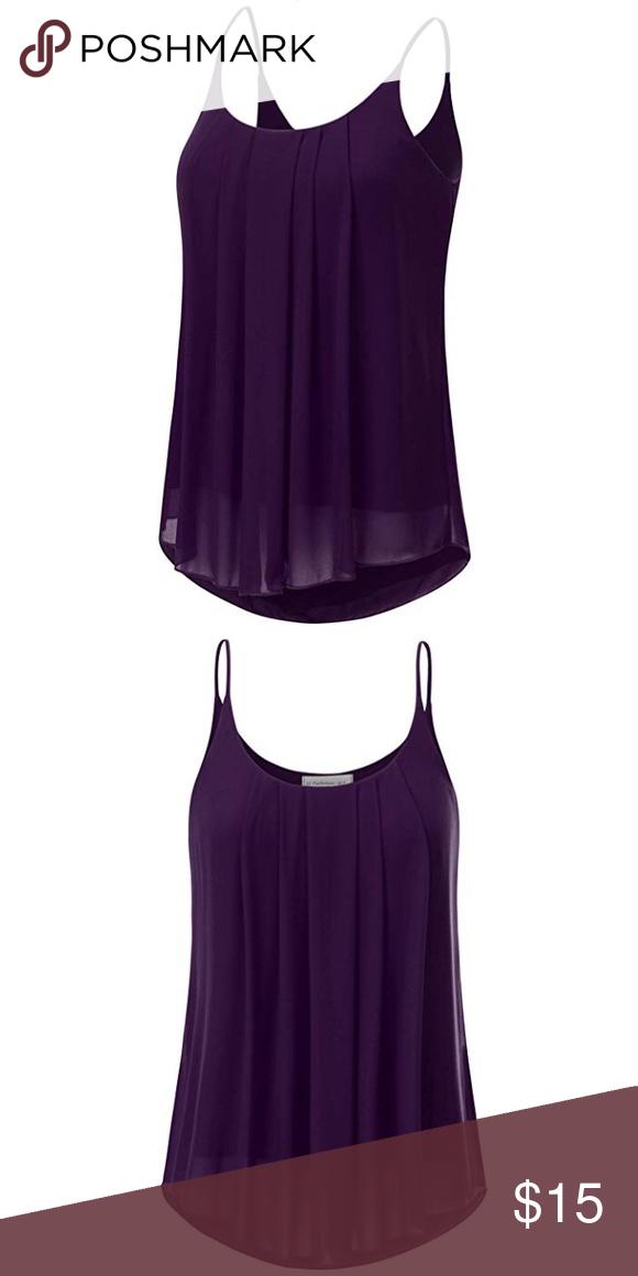 Cheryl's Closet on Poshmark - @clsorice  |Deep Purple Tank Top