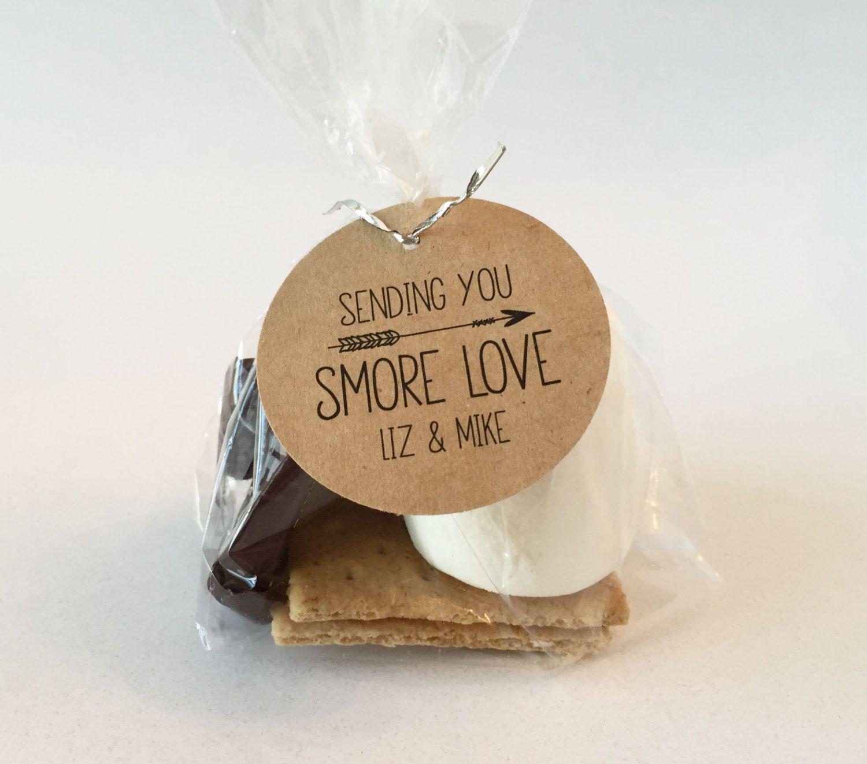 smore love smore wedding favor tags sending smore love smore