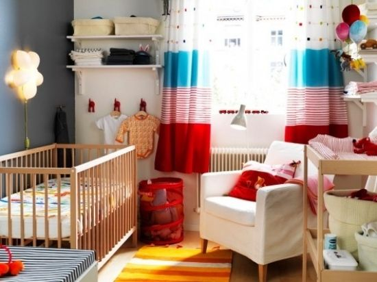 bunte motive ideen kleines babyzimmer gestalten | baby zimmer ...