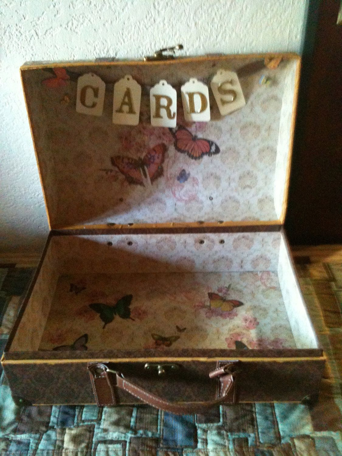 Vintage butterfly wedding card boxuld make one of these my
