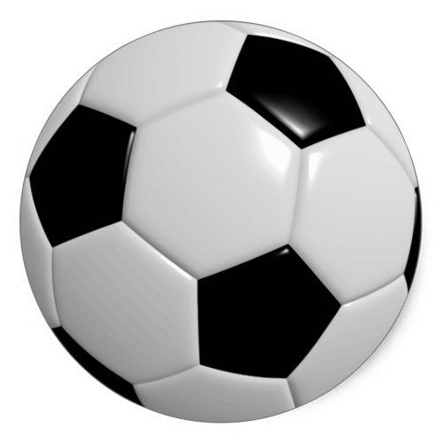 Black And White Soccer Ball Classic Round Sticker Zazzle Com Soccer Ball Black And White Football Football Tactics