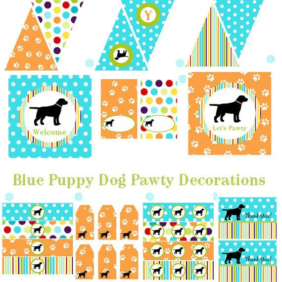 SALE Dog Birthday Decorations Dog Party by BeeAndDaisy on Etsy