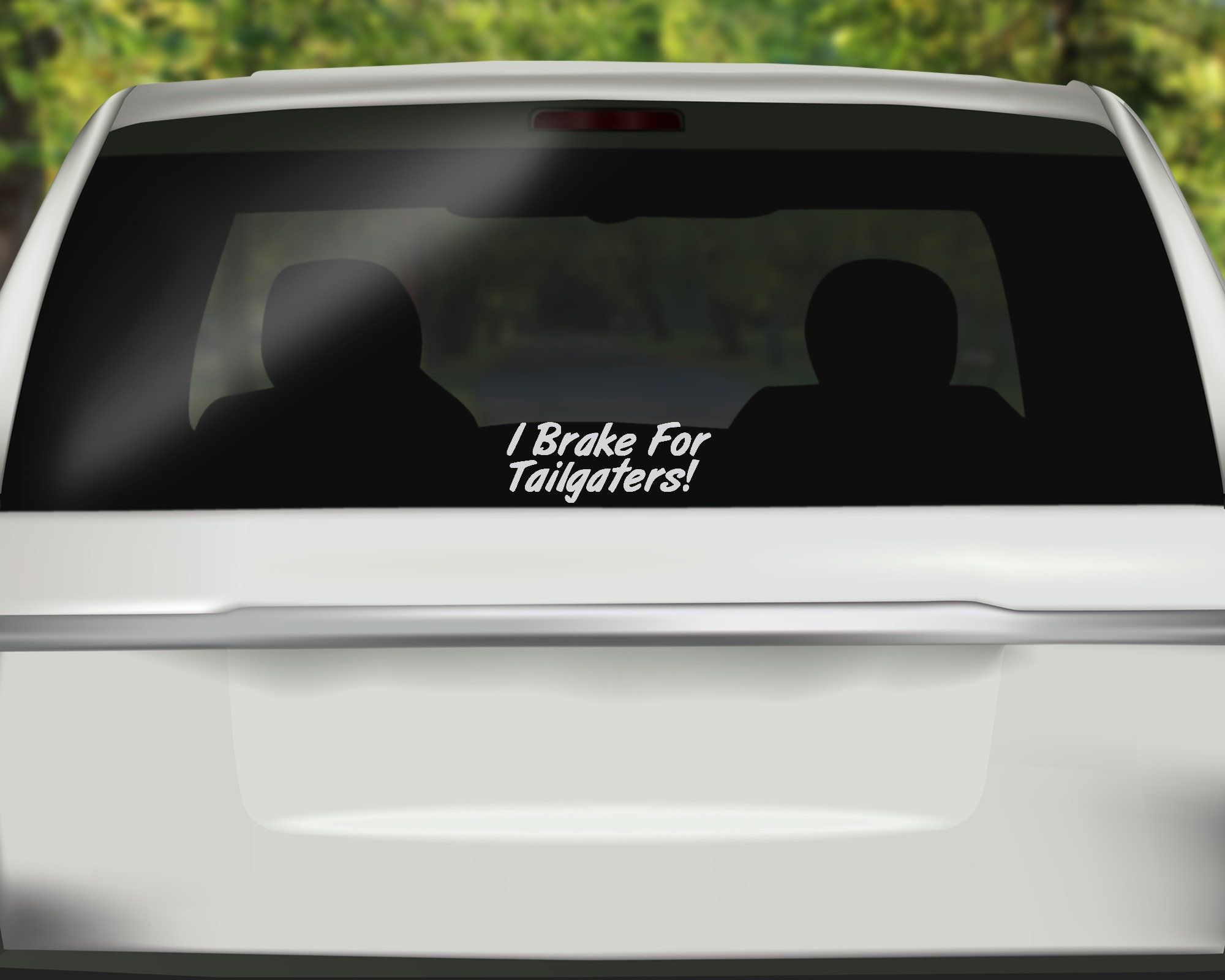 I Brake For Tailgaters Decal Road Rage Decal Driving Decal Sassy Sticker Funny Decal Car Sticker Vi Funny Car Decals Car Decals Vinyl Hunting Decal [ 1600 x 2000 Pixel ]