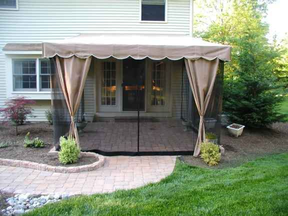 Patio Deck Curtains Swag With Other Material To Block Black Netting Clever