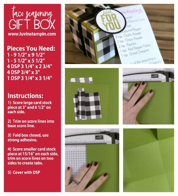 Gift Box For Homemade Taco Seasoning Instructions At Www