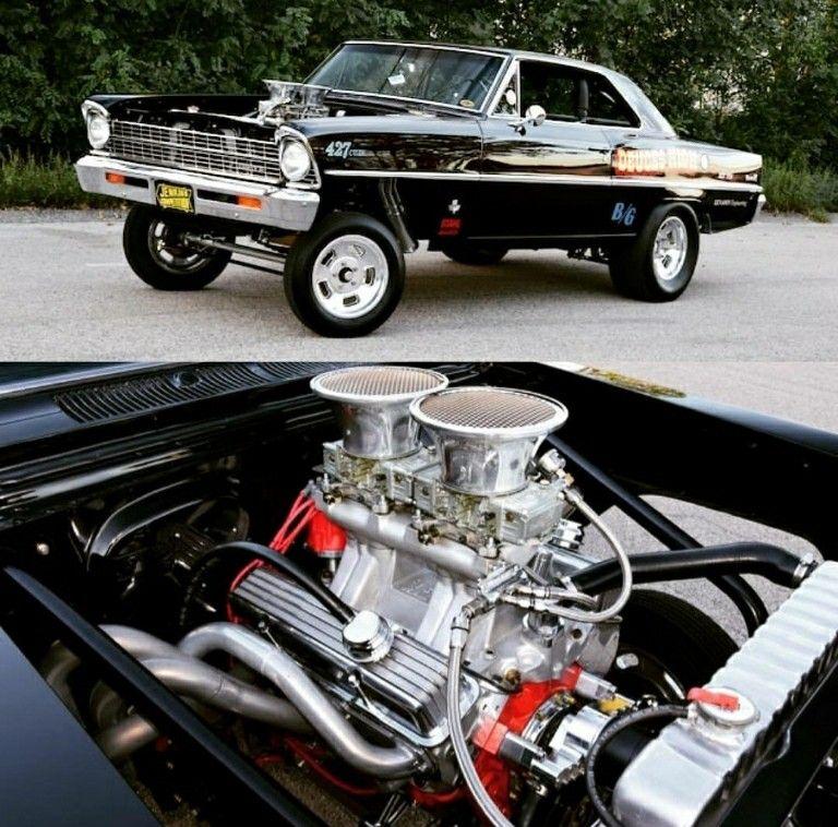 Slickfish 67 Nova Gasser Hot Rods Cars Muscle Classic Cars