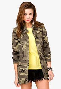 bc80f044ebe01 Studded Camo Military Jacket - Forever 21   Ador i adore camo lately ...