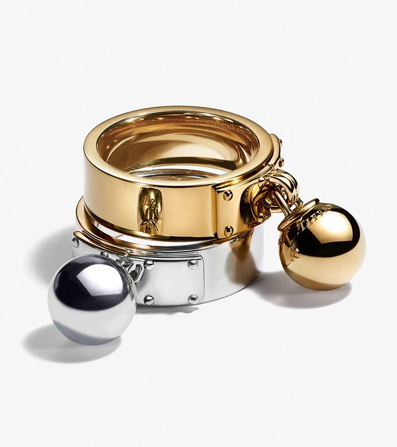 Tiffany Hardwear Ball Dangle Ring 18k Gold Tiffany And
