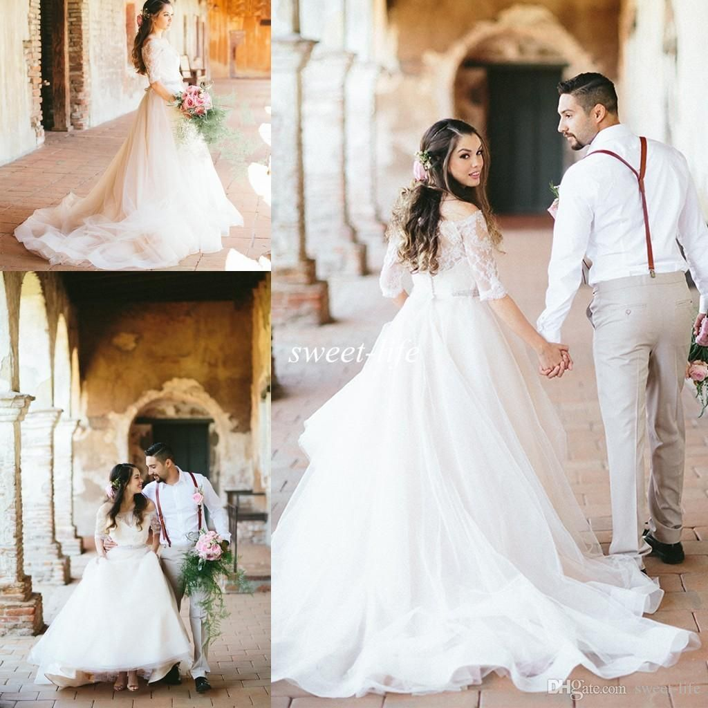 Modern plus size wedding dresses off the shoulder with short