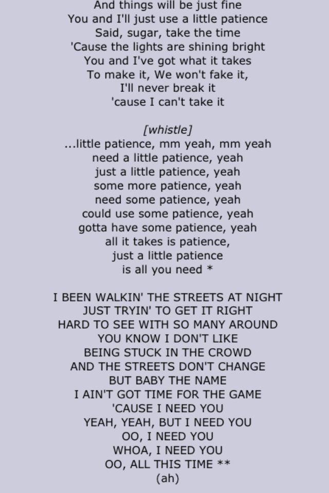 Guns N Roses Patience Second Half Love Songs Lyrics Music Lyrics Song Lyrics