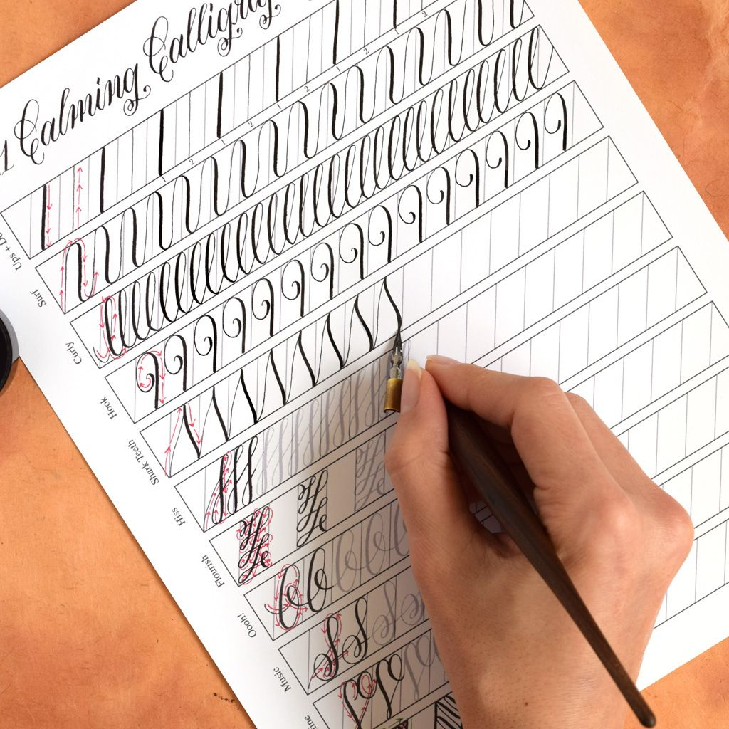 11 Calming Calligraphy Drills Printable With Images