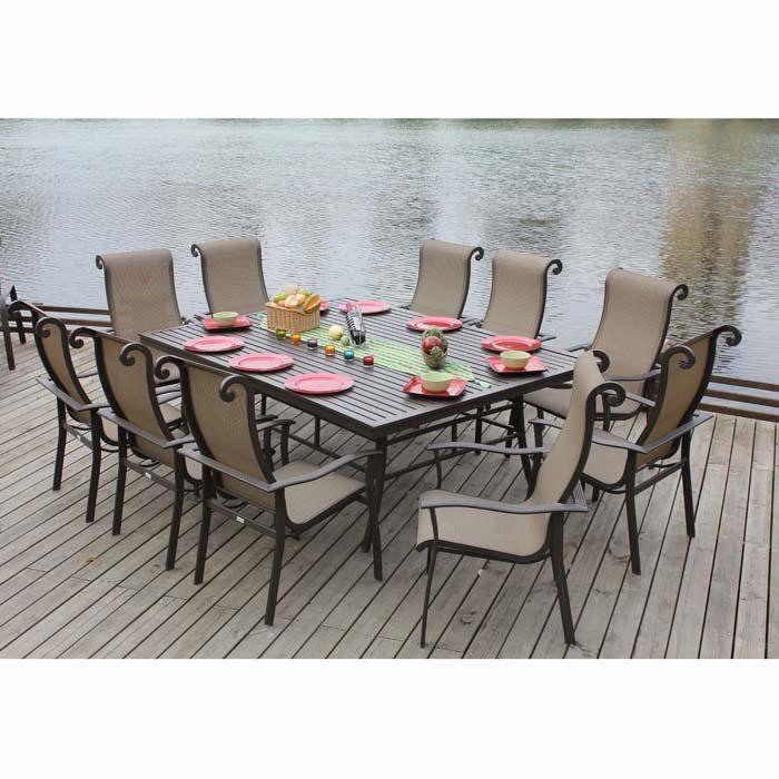 Tiago 11 Piece Dining Set | Marvelle 11 Piece Outdoor Dining Set At  Brookstoneu2014