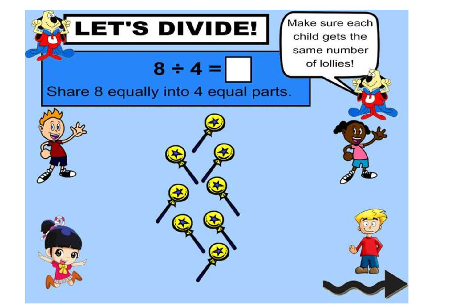 A Lower Primary Iwb Lesson All About Division As Sharing