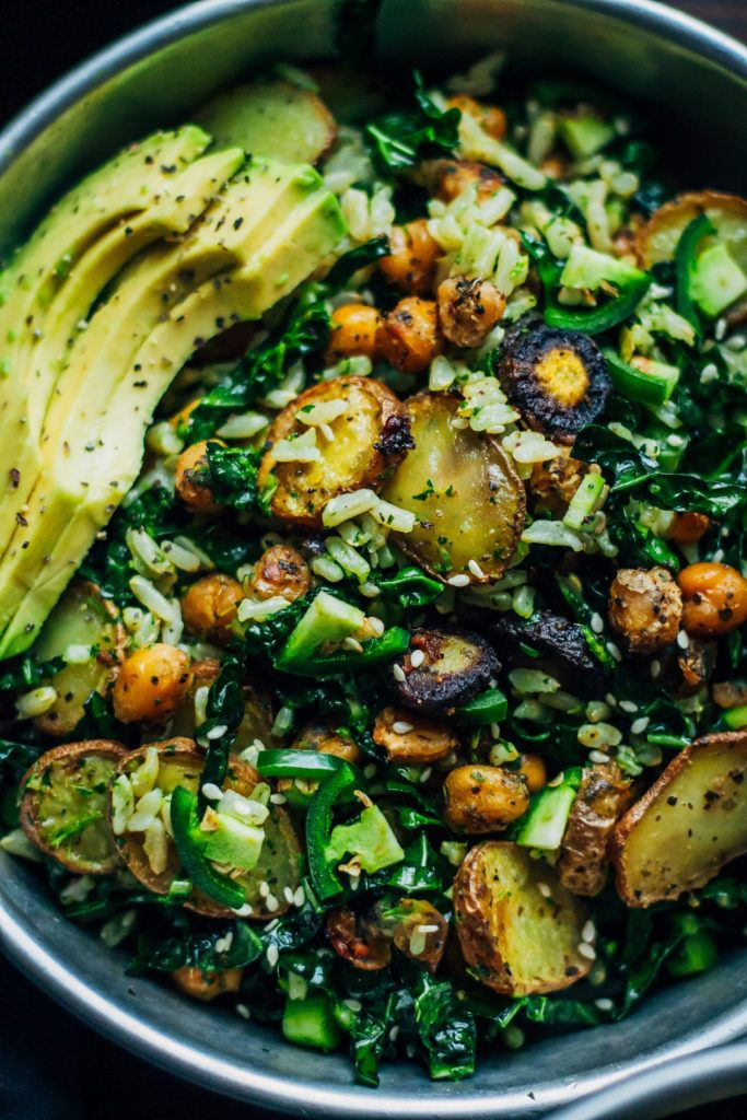 Kale Detox Salad W Pesto