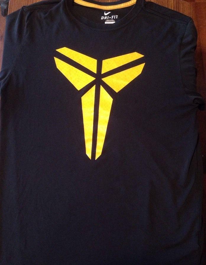 Kobe Bryant Nike Dri Fit T Shirt Large Men s Black Yellow  240997137