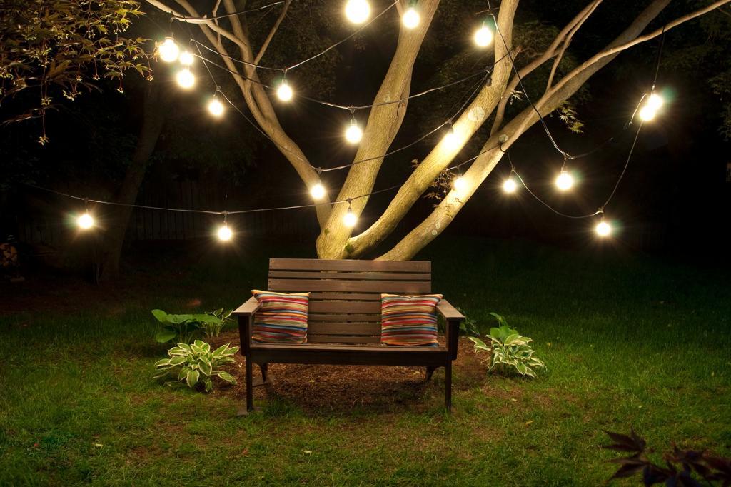 52 Designer Patio Ideas   Outdoor U0026 Landscape Lighting Ideas: String Lights  Hanging From Trees
