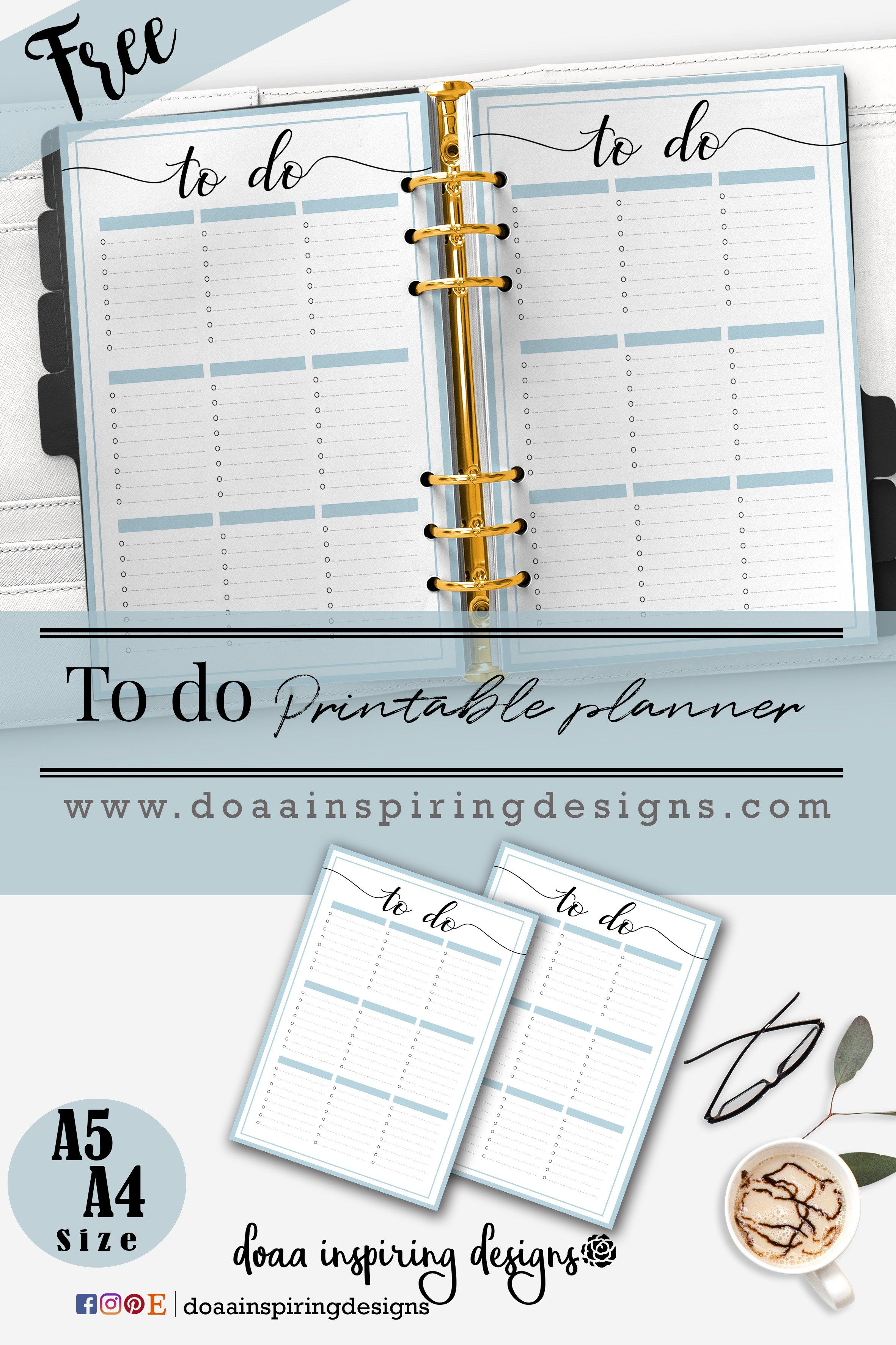 To Do List Free Printable Tasks Free Planner Printable