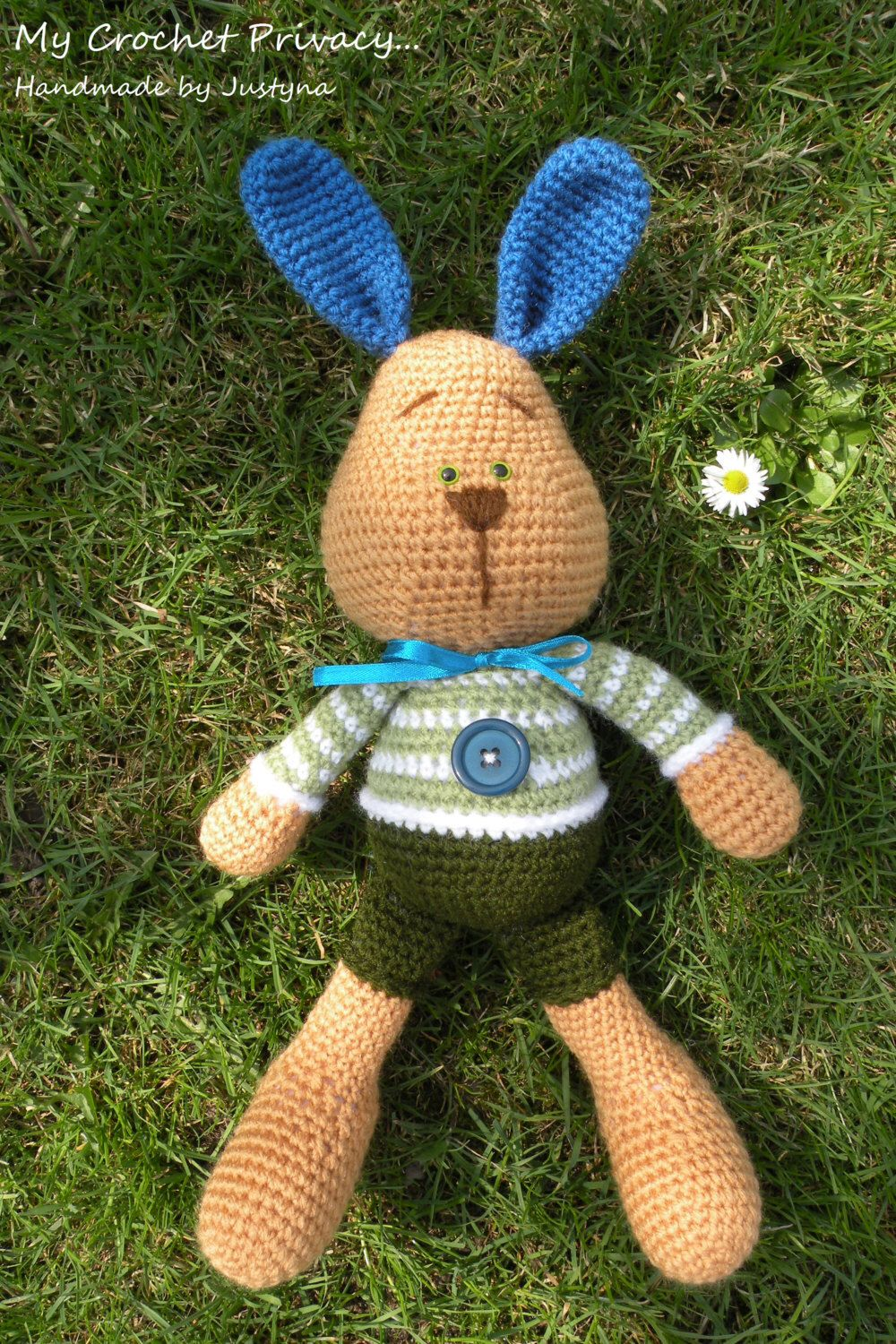 Crochet pattern - Farrel the Bunny by MyCrochetPrivacy on Etsy https://www.etsy.com/listing/155282213/crochet-pattern-farrel-the-bunny