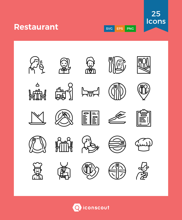 Download Restaurant Icon Pack Available In Svg Png Eps Ai Icon Fonts Restaurant Icon Icon Pack Icon Font