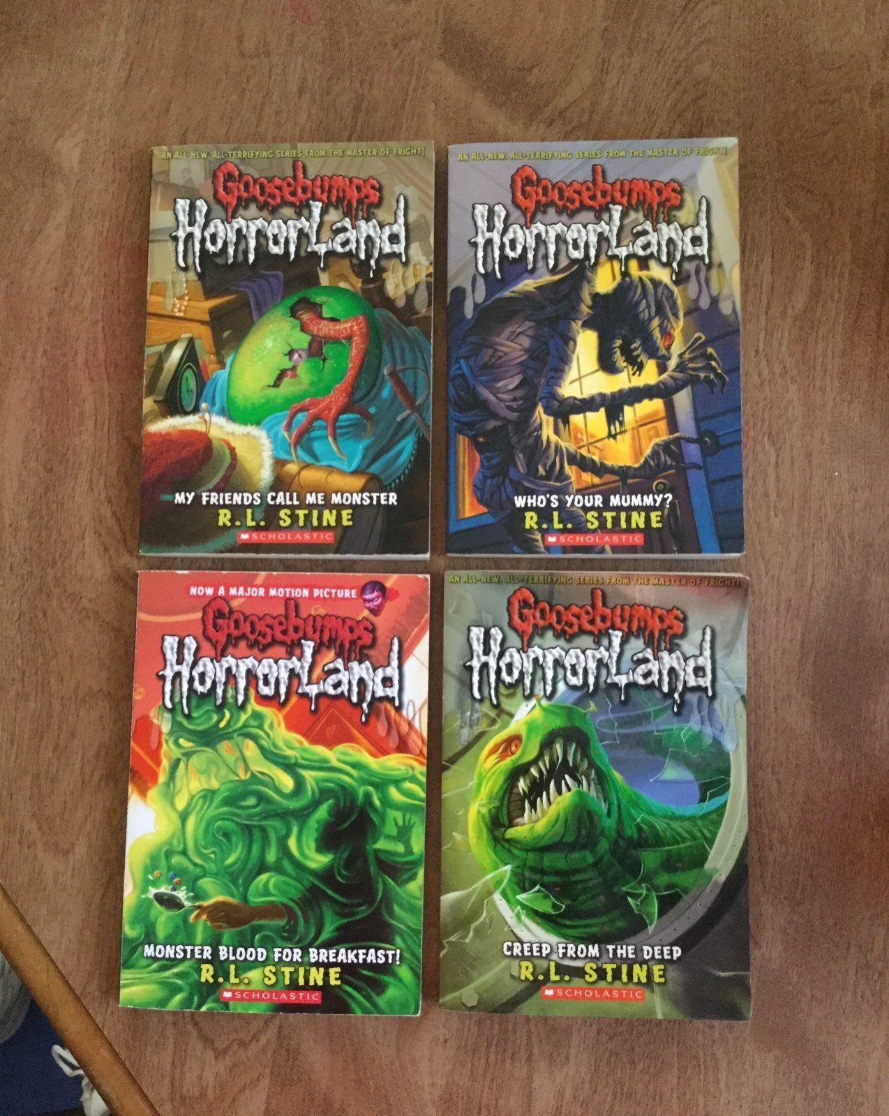 4 Goosebumps Books By Rl Stine Used Books Childrens Books