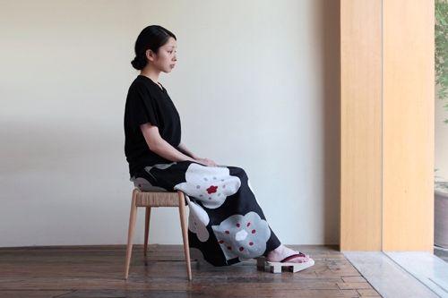 100% linen summer maxi skirt #linen, #maxiskirt, #sousou, #skirt, #japan, #japanesefashion, #kyoto