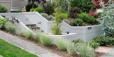 Retaining Walls Rockeries Poured Concrete Patio Concrete Retaining Walls Concrete Garden