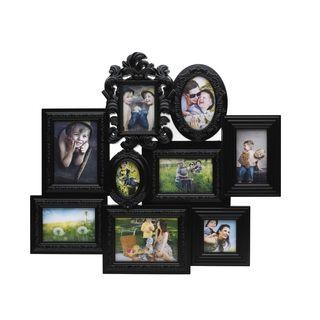 Melannco 9 Opening Multi Profile Ornate Black Collage Frame