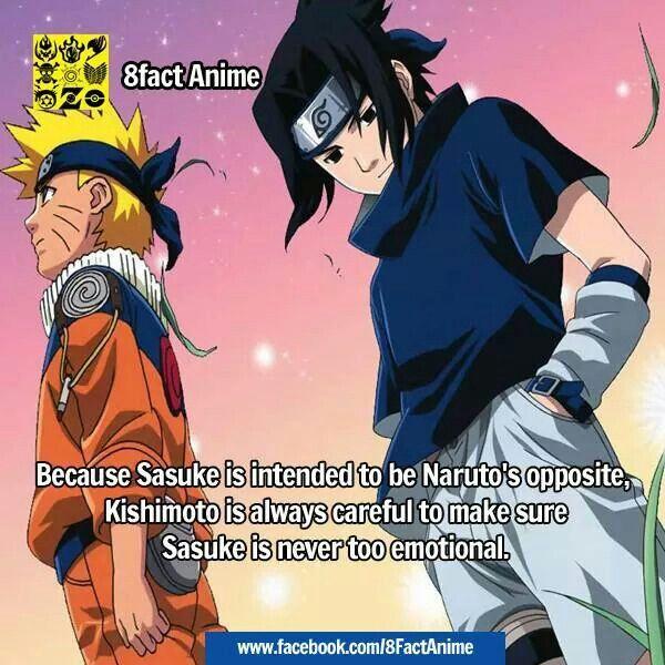 naruto facts....im pretty sure sasuke is more emo and emotional ...