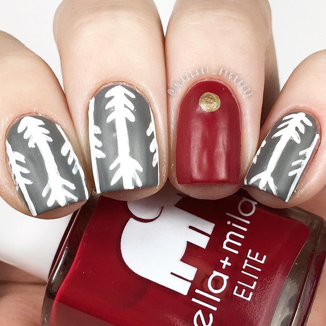 Fall Arrow Nails This Is A Twin Mani With Hannah Banana Nails Everyone Pl Arrow Nails Nail Art Mani