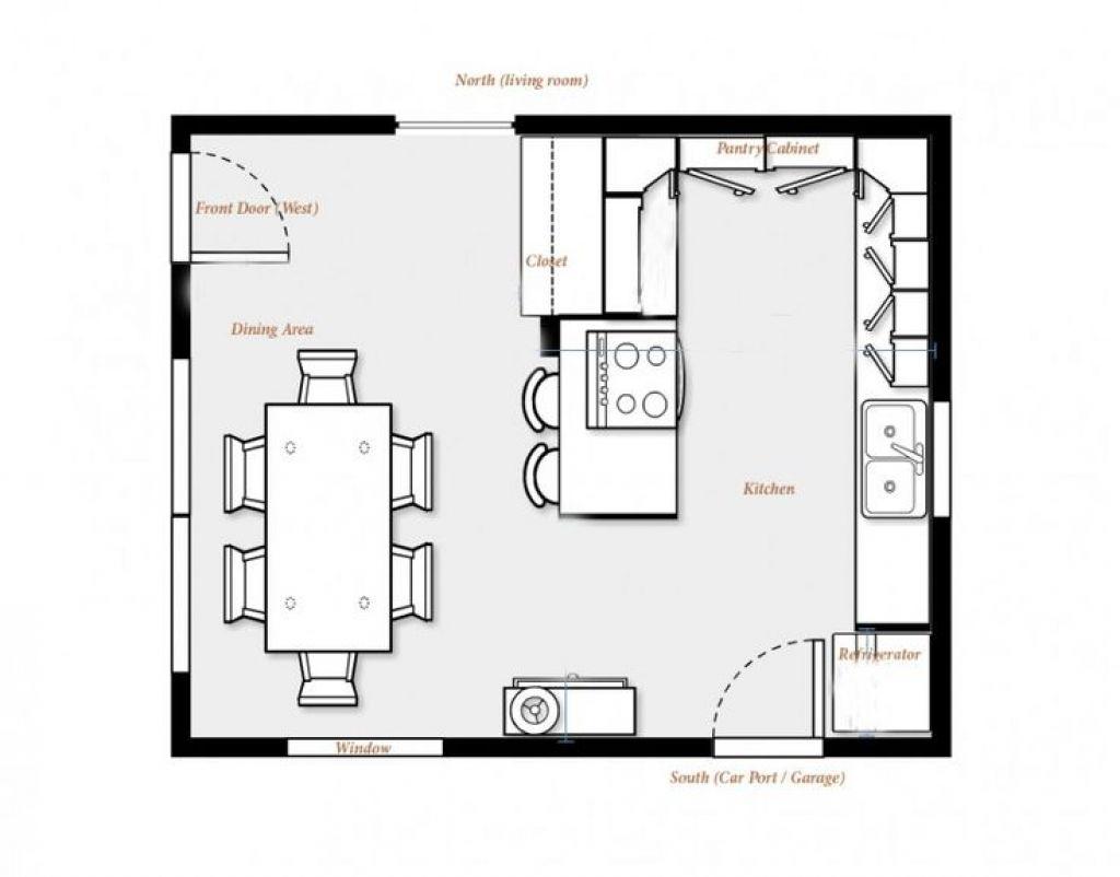 Kitchen Dining Room Design Layout 18 Best Kitchen Floor Plans