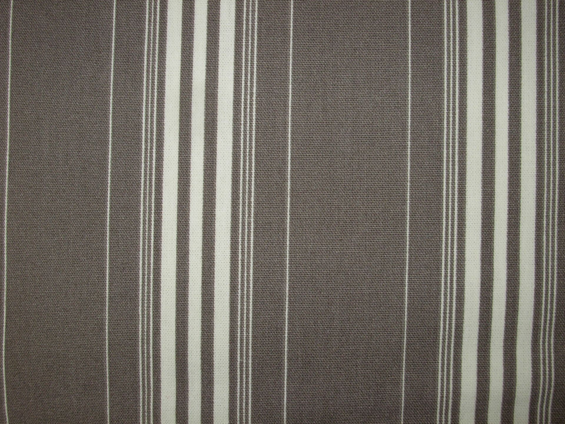 Coton bachette intérieur/extérieur rayé marron glacé et blanc - 0.55m x 280cm : Tissus Ameublement par l-atelier-rikittyn