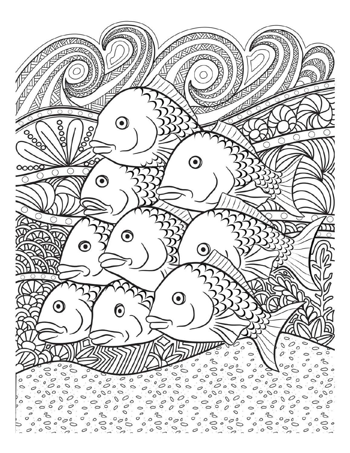 Stress relief coloring pages - Doodles Oceana Adult Coloring Book Twenty Creative And Stress Relieving Coloring Pages