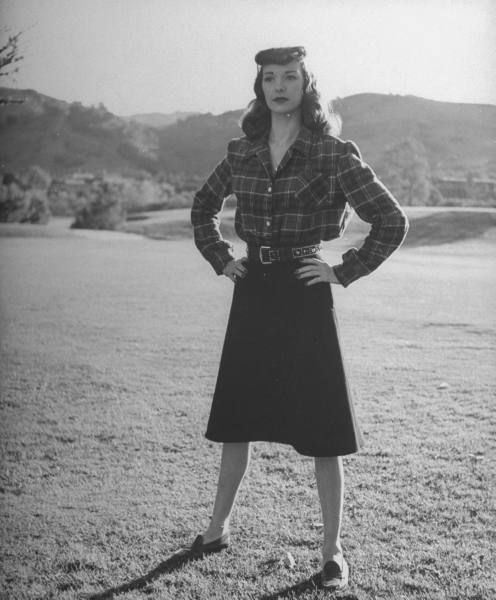 Actress Frances Ramsden. - November 1945 - I want to copy this whole outfit!