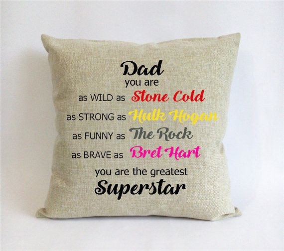 WWE Father Daughter Gift Xmas From By Pillow6218 On Etsy