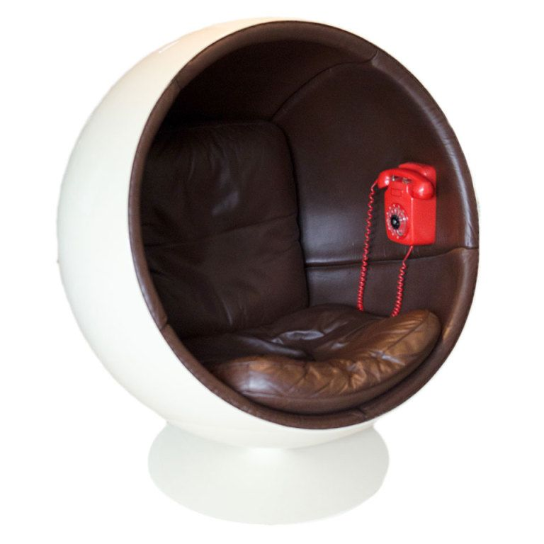 I don't like to talk on the phone, but this is pretty amazing. // Ball chair by Eero Aarnio made by Asko.